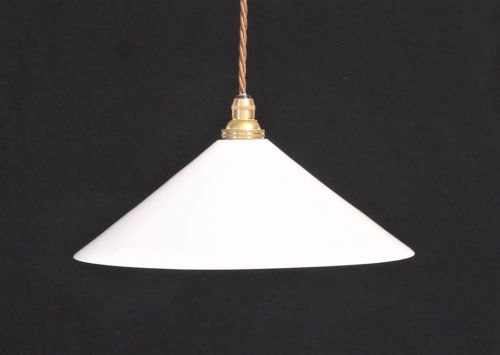 British white glass light shade