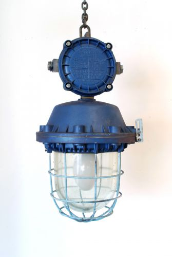 Blue Painted Pendant with junction box