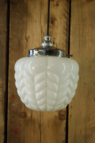 Moulded Opaline Shade