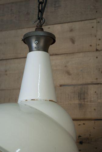 Parabolic benjamin white enamel light
