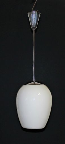 oapaline tulip light with chrome stantion