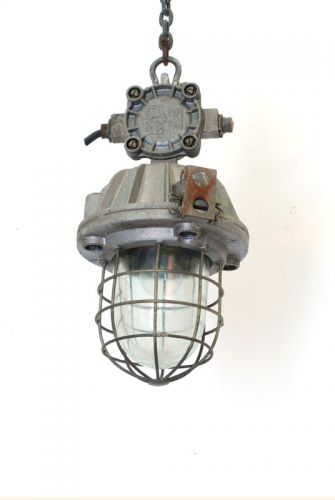 Industrial Caged pendant with junction box