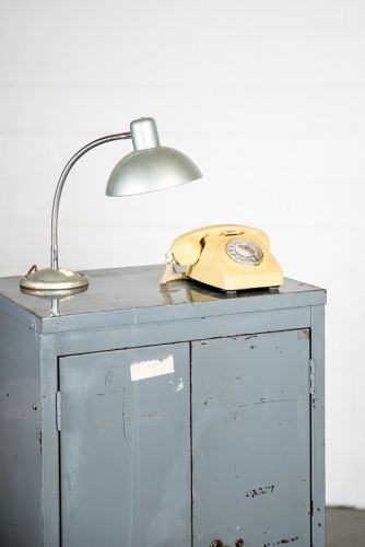 Light blue metal cupboard