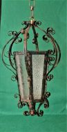 French Wrought Iron Hall Lantern